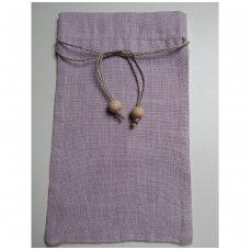 Lininis maišelis (šviesiai alyvinė spalva)