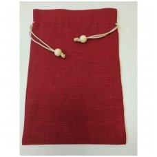 Lininis maišelis (bordo spalva)