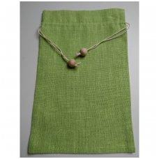 Lininis maišelis (salotinė spalva)