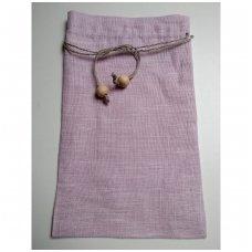 Lininis maišelis (šviesiai rožinė spalva)