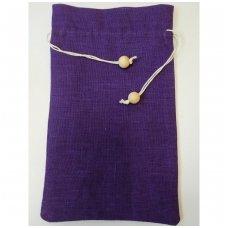Lininis maišelis (ryškiai violetinė spalva)