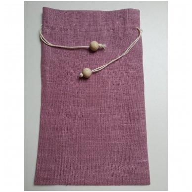 Lininis maišelis (alyvinė spalva)