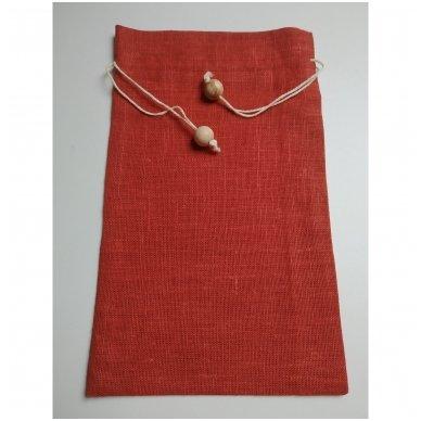 Lininis maišelis (rudai oranžinė spalva)