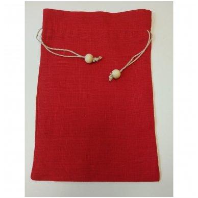 Lininis maišelis (raudona spalva)