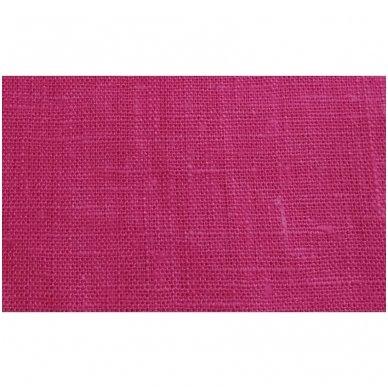 Lininis maišelis (ryškiai rožinė spalva)   2