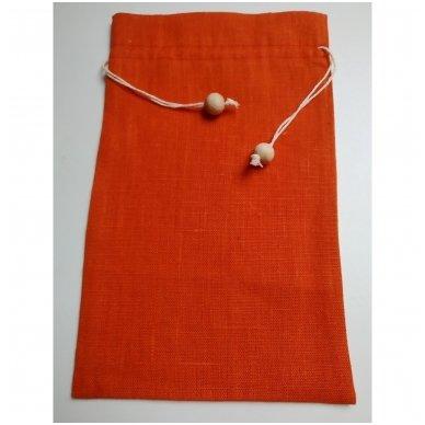 Lininis maišelis (oranžinė spalva)