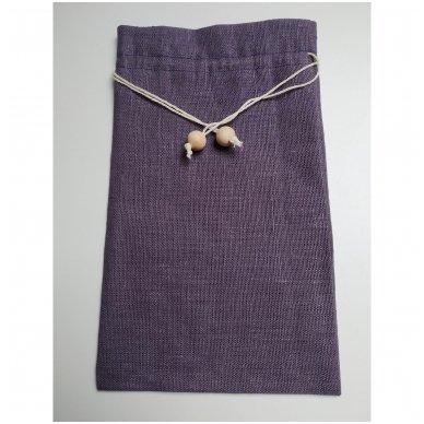 Lininis maišelis (violetinė spalva)