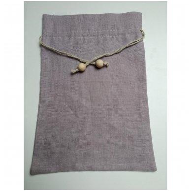 Lininis maišelis (šviesiai violetinė spalva)