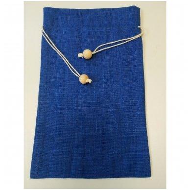 Lininis maišelis (mėlyna spalva)