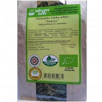 """Ekologiška žolelių arbata """"Saskijos"""" ( 40 g ) 2"""